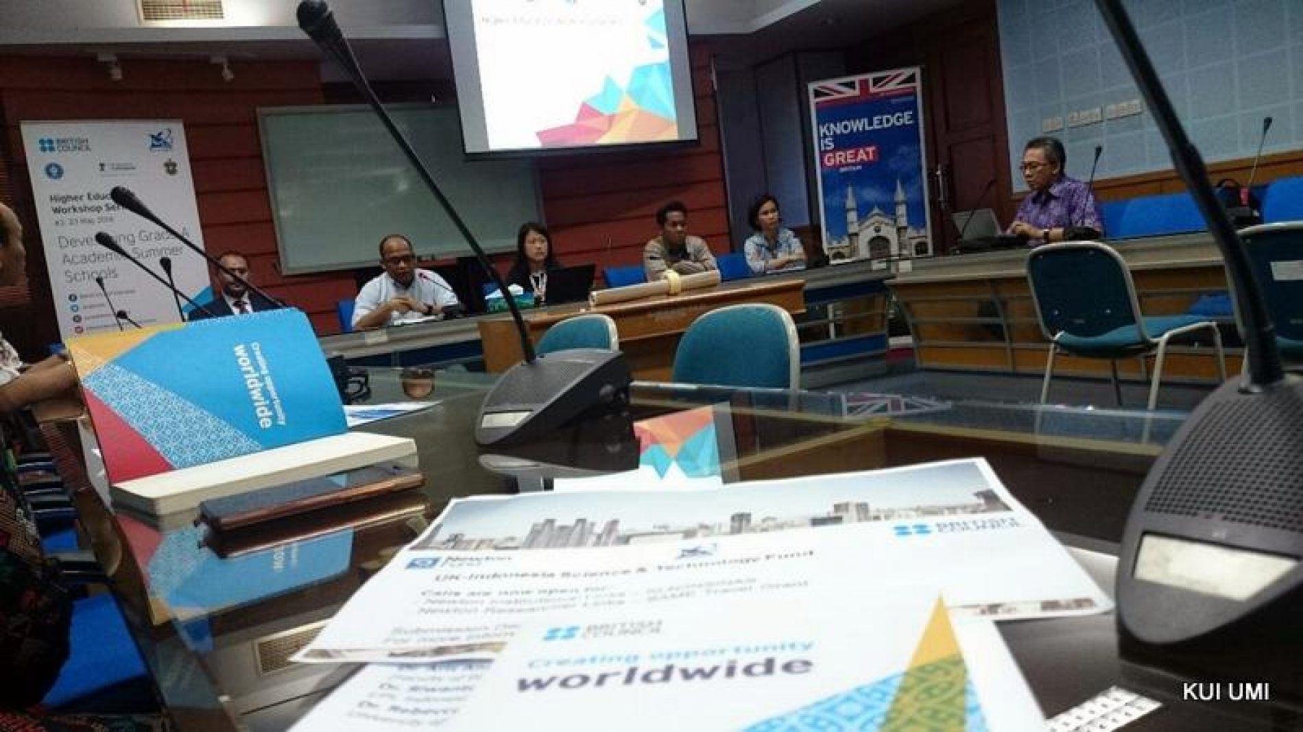 The International Office of UMI Joins British Council's Workshop