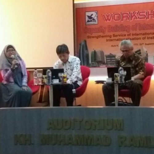 Workshop on Capacity Building PKKUI 2016 Strengthens Services of International Office
