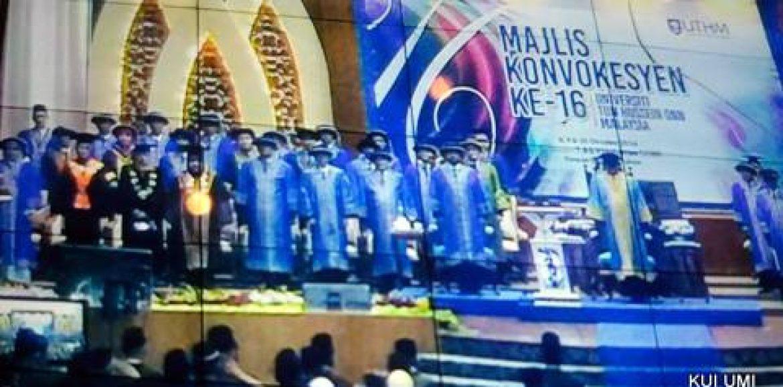 UMI Rector Attends The Sixth Majlis Konvokesyen of UTHM